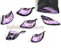 How-to tutorial - Making a purple and black butterfly wing cane from polymer clay