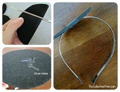 DIY Mini Top Hat Attached to Headband Tutorial