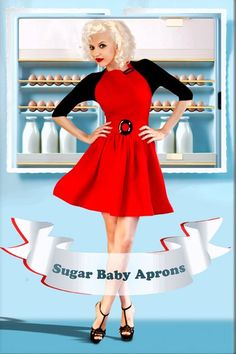WIN the Sugar Baby Apron of your choice at The Funky Monkey! Giveaway ends Red Apron, Jillian Harris, Cute Aprons, Sugar Baby, Christmas Baby, Girls Out, Fashion Beauty, Sexy Women, Lady
