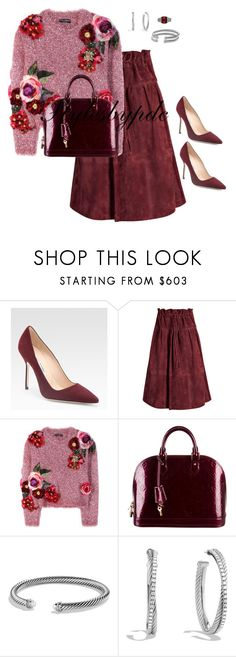 """""""Something Different... Dolce&Gabbana"""" by stylesbypdc ❤ liked on Polyvore featuring Manolo Blahnik, Otis, Dolce&Gabbana, Louis Vuitton and David Yurman"""