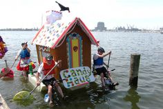 AVAM's Kinetic Sculpture Race - submissions must travel in the road and in water. An annual event first weekend in May.