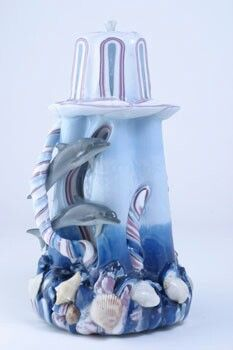 Beauriful dolphin carved candle