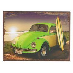 Chapas pared diseños retro coches Volkswagen