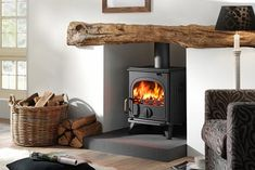 wood stove living room design - Google Search