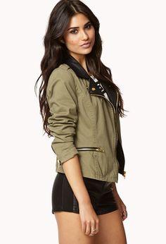 Desert Rebel Moto Jacket   FOREVER 21 - 2058974690