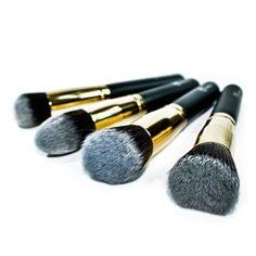 Fancy - Makeup Gold Kabuki Brush Set Royal Care Cosmetics