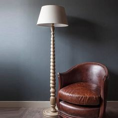 Oak Standard Lamp To tuck into the corner with the leather armchair...bliss!