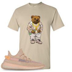 c5dd75068 Yeezy Boost 350 Clay V2 Sneaker Match Polo Biggie Bear Sand T-Shirt