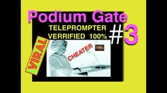 PODIUM GATE #3 *** PROOF SCROLLING TELEPROMPTER  IN PODIUM*.  Blinking l...