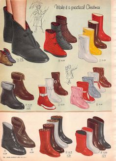 Golf Outfit S Women Resultado de imagen para womens boots Golf Fashion, 1950s Fashion, Vintage Fashion, Fashion Women, Sock Shoes, Shoe Boots, Women's Shoes, 1950s Shoes, Nostalgia