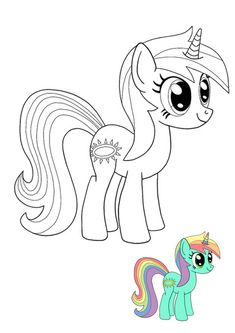 Twilight Sparkle My Little Pony Unicorn coloring page with sample Emoji Coloring Pages, Paw Patrol Coloring Pages, Baby Coloring Pages, My Little Pony Coloring, Birthday Coloring Pages, Mermaid Coloring Pages, My Little Pony Drawing, Disney Coloring Pages, Mandala Coloring Pages