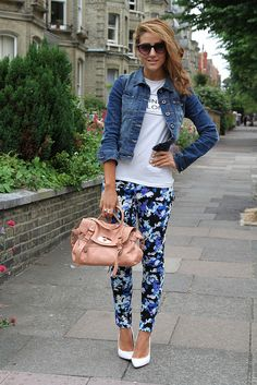 19 Cute Ways How To Wear Floral Pants | World inside pictures