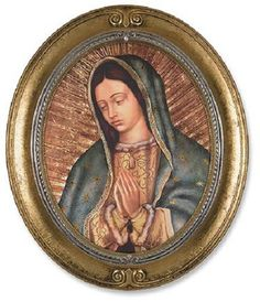Our Lady Of Guadalupe Bust Print In Oval Frame