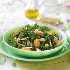 Mandarin Orange and Kale Salad - delicious minus almonds and celery