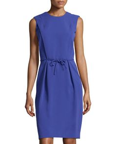 Flap Front Sleeveless Dress, Cobalt by Giorgio Armani at Neiman Marcus Last Call.