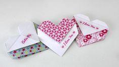 Origami Herz falten DIY Geschenk, Tasche oder Umschlag - einfach und schnell…