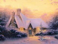 Thomas Kinkade - Christmas Tree Cottage  1994