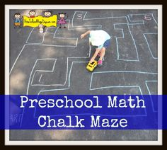 Preschool Math Chalk Maze from How to Run a Home Daycare