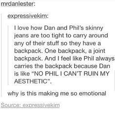 Actually Dan carries the backpack sometimes