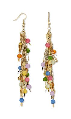 Jewelry Design - Earrings with Cool Frost Resin Beads™ and Gold-Plated Brass Components - Fire Mountain Gems and Beads
