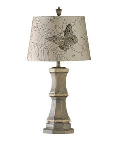 Look what I found on #zulily! Rustic Butterfly Table Lamp #zulilyfinds