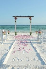 Affordable Destination Weddings | Destin FL Beach Weddings  Vow renewal ideas - but this would be Sherwoods Beach, Oahu, HI ;)