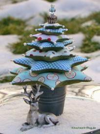 Weihnachtsdeko, Weihnachtsbaum, Stoff, nähen, Perlen, bead, christmas deco, christmas tree, fabric, sewing
