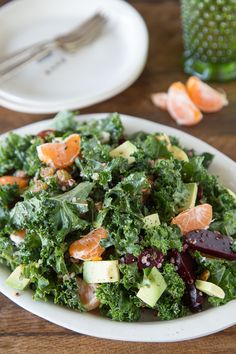 Superfood Salad! Kale, Quinoa, Avocado + more! Pressing the reset button with this salad and getting back on track :)