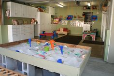 Take advantage of the space in your garage. Declutter and create an area all your own. What could you use? Yoga studio? Man cave? Playroom?Here's a garage to playroom conversion. How fun is this? Even toddler swings and a sandbox!  Upgrade to a door w a better R value and keep the room warm even on chilly days. Ask us about installing a new door- Free estimate, Orange County. 949-444-4995