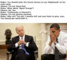 Biden meme regarding Trump and his secret service code name