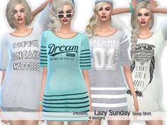Sims 4 CC's - The Best: Sleep Shirts by Pinkzombiecupcake