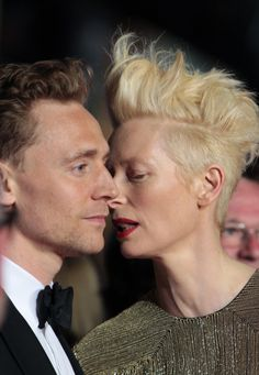 Tom Hiddleston and Tilda Swinton attend the 'Only Lovers Left Alive' premiere during The Annual Cannes Film Festival at the Palais des Festivals on May 2013 in Cannes, France [HQ] Salford City, Tom Hiddleston Dancing, Tom Hiddleston Loki, Tilda Swinton, High Level, Memphis, Only Lovers Left Alive, Palais Des Festivals, Hair Styles