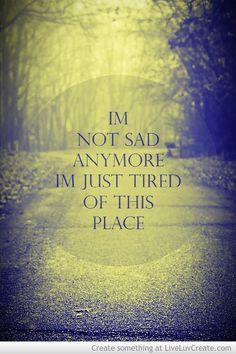Sadness.....