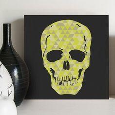 quadro decorativo triangles skull