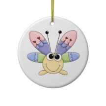 Colorful Butterfly Christmas Tree Ornament