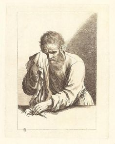 da Guercino-Vecchio piangente