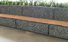 retaining wall seating | Gabion Stone Fences Simple Low Cost Stone Fencing