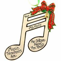 Christmas gift music note