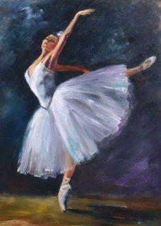 Ballerina Art, Ballet Art, Ballet Girls, Ballet Dancers, Ballerinas, Ballet Painting, Painting Of Girl, Painting & Drawing, Fashion Wall Art