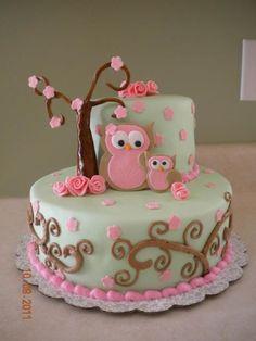 39 super ideas baby shower cake for girls owl Baby Girl Shower Themes, Baby Shower Favors, Baby Shower Cakes, Owl Shower, Shower Bebe, Owl Cakes, Cupcake Cakes, Ladybug Cakes, Fruit Cakes