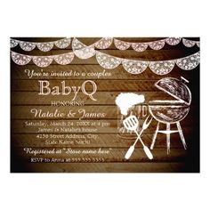 476 best couples baby shower invitations images on pinterest in 2018 girl couples babyq bbq baby shower invitation filmwisefo