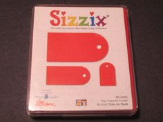 Sizzix Originals Crescent Combo Tag Red Die 38 0942 New in Case   eBay
