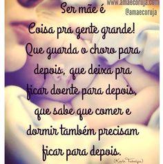 Ser mãe.   www.amaecoruja.com