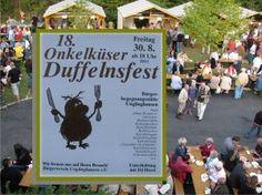 In Unglinghausen gibt es jährlich ein großes Duffelnfest, also ein Kartoffelbratfest. Das Bild ist aus dem Jahr 2013.