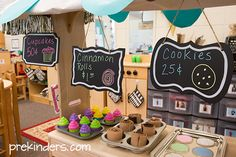 Bakery Dramatic Play Center: chalkboard signs