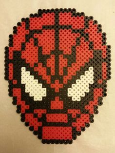 Spiderman perler beads by Carolyn Hoes