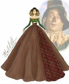 Michael_anthony_designs The Wizard of Oz Scarcrow Disney Princess Fashion, Disney Style, Disney Art, Arte Fashion, Girl Fashion, Fashion Design, Fashion Drawing Dresses, Fashion Sketches, Fashion Illustration Hair