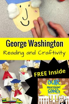 This fun George Washington craftivity will engage your students. Read about a great book to read and a great writing activity! Enjoy the FREE song! History Activities, Teaching Activities, Holiday Activities, Hands On Activities, Teaching Ideas, Teacher Blogs, Teacher Resources, Social Studies Lesson Plans, George Washington