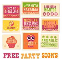 Party DIY - Make Free printable signs: Instantly download!