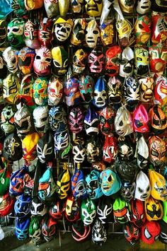 Luchador masks. Why not? Mascaras mascaras y mas mascaras.